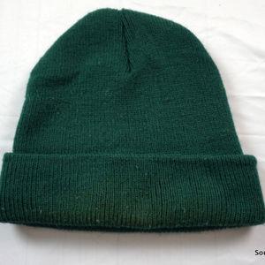 8f4409e7 adidas Accessories - Vintage 80s Adidas Knit Winter Hat Treefoil Green